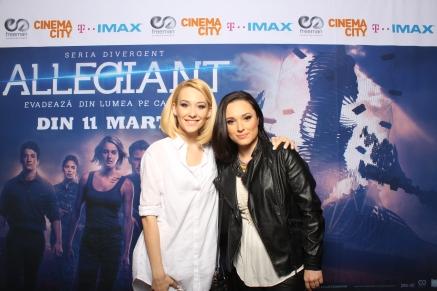 Camelia Baltoi si Oana Zamfir avanpremiera Allegiant IMAX Freeman Entertainment